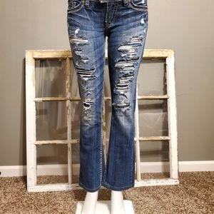 NWOT Silver distressed jeans size 27